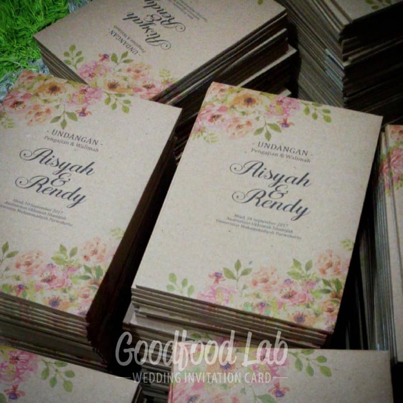 Kraft Jasmine White Single Hardcover Amplop Undangan