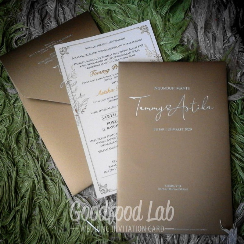 Single Softcover Amplop Kertas Ivory Gold Ink